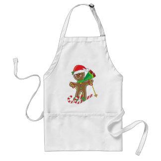 Gingerbread Skier Adult Apron