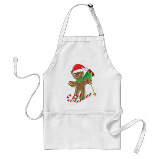 Gingerbread Skier Aprons