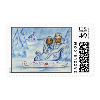 Gingerbread Sleigh Postage Stamp