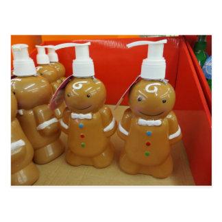 Gingerbread Soap Dispenser Postcard