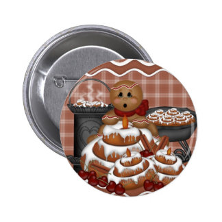 Gingerbread Spice Button