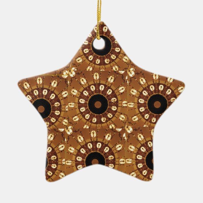 'Gingerbread' Star Ornament