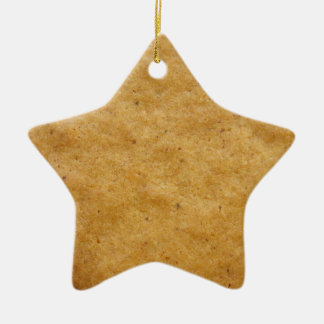 Gingerbread star shaped cookie - cinnamon ceramic ornament