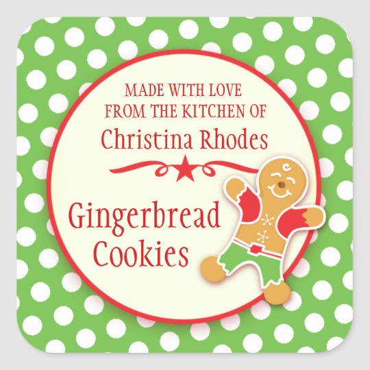 Gingerbread stickers for cookie exchange or sale