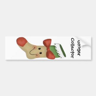 Gingerbread Stocking Bumper Sticker
