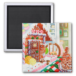 Gingerbread Surprise 2 Inch Square Magnet