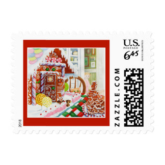 Gingerbread Surprise Priority Mail Stamps