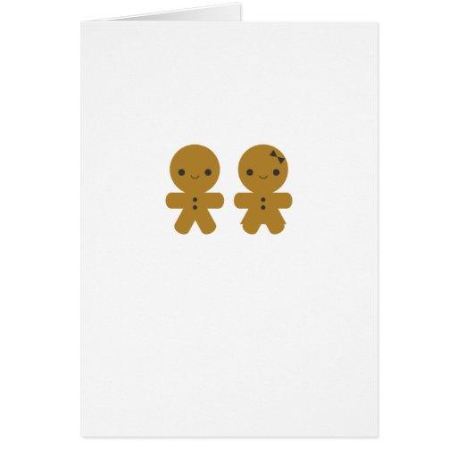 Gingerbread Sweethearts Greeting Card