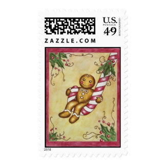 Gingerbread Swing Postage Stamp