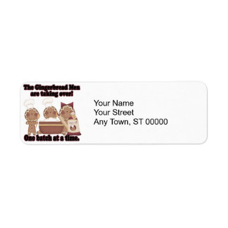 gingerbread taking over kitchen return address label