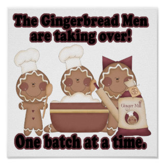 gingerbread taking over kitchen print