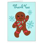 Gingerbread Thank You Card