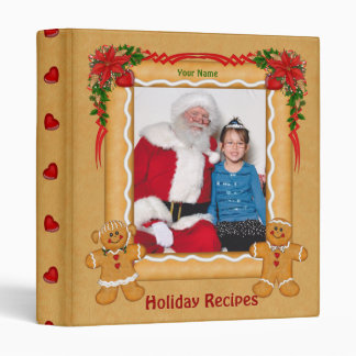 Gingerbread Theme Holiday Album 3 Ring Binder