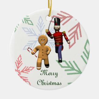 Gingerbread Thief Ceramic Ornament