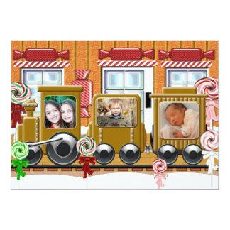 Gingerbread Train Holiday Photo Card
