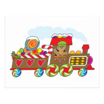 Gingerbread Train Postcard