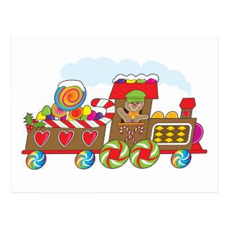 Gingerbread Train Postcard
