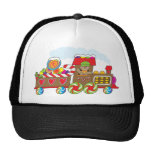 Gingerbread Train Trucker Hat