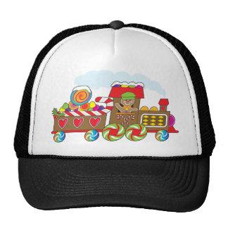 Gingerbread Train Trucker Hat