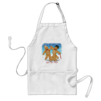 Gingerbread  Trio Adult Apron