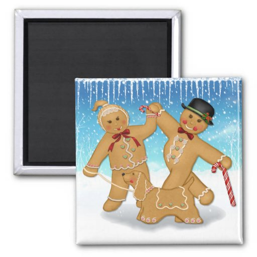 Gingerbread Trio Magnets
