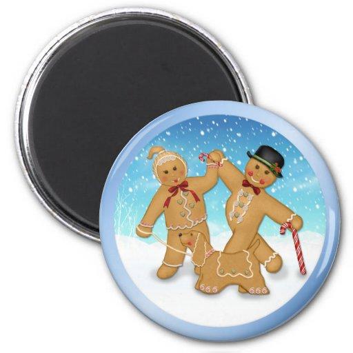 Gingerbread Trio Fridge Magnet