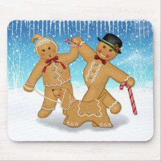 Gingerbread Trio Mouse Pad
