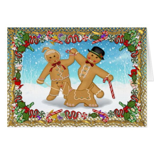 Gingerbread Trio with Verse Card