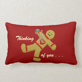 Gingerbread Voodoo Valentine Doll Lumbar Pillow
