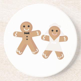 Gingerbread Wedding Drink Coaster
