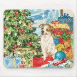 Gingerbread Wishes American Bulldog Christmas Art Mousepads
