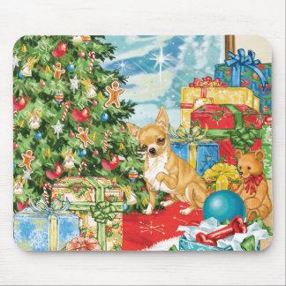 Gingerbread Wishes Chihuahua Christmas Art Mousepad