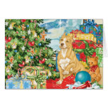 Gingerbread Wishes Pit Bull Terrier Christmas Art Greeting Card