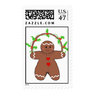 Gingerbread with Holly Postage