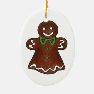 Gingerbread Woman Christmas Cookie Ornaments