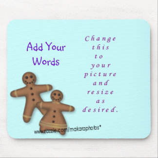 GingerbreadBoy&Girl-add picture-customize Mouse Pad