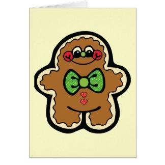 gingerbreadman 001PR CUTE COOKIES WINTER FOODS TRE Card