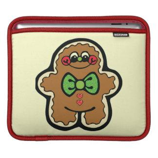 gingerbreadman 001PR CUTE COOKIES WINTER FOODS TRE iPad Sleeve