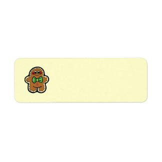 gingerbreadman 001PR CUTE COOKIES WINTER FOODS TRE Label