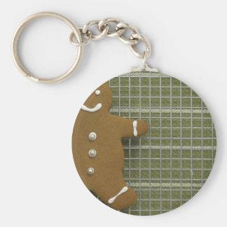 Gingerbreadman Basic Round Button Keychain
