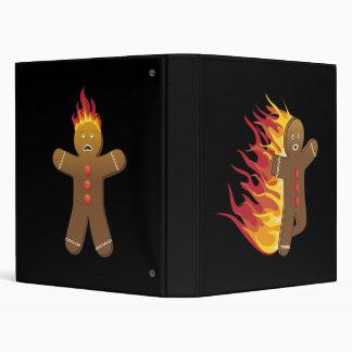 Gingerbreadman divertido en el fuego