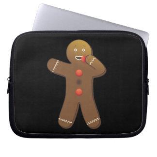 Gingerbreadman divertido que se come fundas portátiles