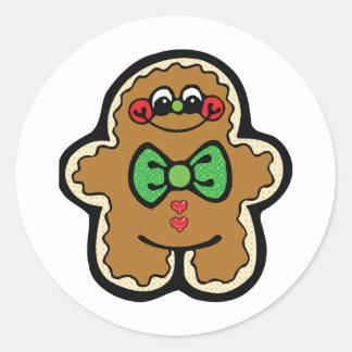 gingerbreadman lindo pegatinas redondas