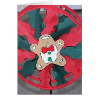 Gingerbreadman Pinwheel/Poinsettia Card