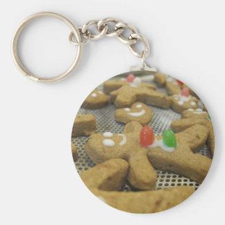 gingerbreadmen basic round button keychain