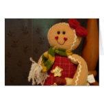 Gingerbreadwoman/Cardinal Greeting Card