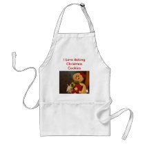 Gingerbreadwoman, I Love Baking Christmas Cookies Adult Apron