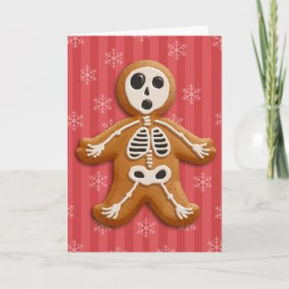 Gingerdead Man (blood) Holiday Card