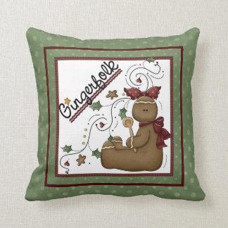 Gingerfolk Gingerbread Themed Pillow