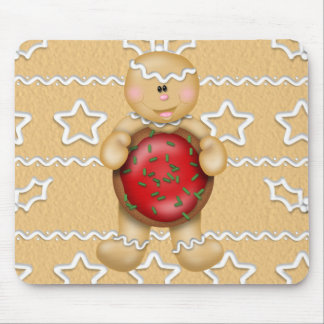 Gingergread Man Christmas Holiday Mouse Pad